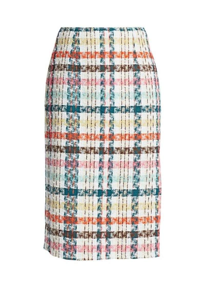 Oscar de la Renta Spring Tweed Pencil Skirt