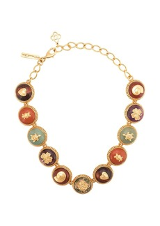 Oscar de la Renta stone embellished necklace