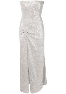 Oscar de la Renta strapless gown with front slit