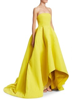 Oscar de la Renta Strapless High-Low Ball Gown