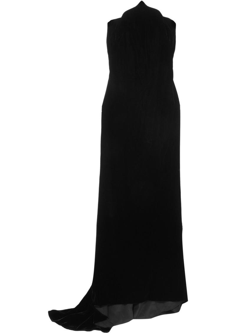 Oscar de la Renta Strapless Velvet Gown