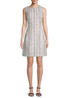Oscar de la Renta Stripe Sheath Dress