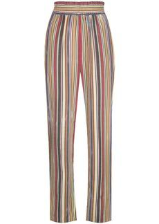 Oscar de la Renta striped high-waisted trousers