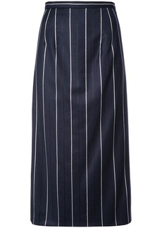 Oscar de la Renta striped midi skirt