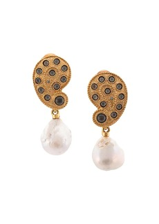 Oscar de la Renta Taj pearl drop earrings