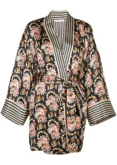 Oscar de la Renta tapestry floral print kimono