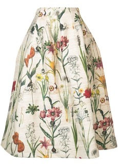 Oscar de la Renta tea length full party skirt