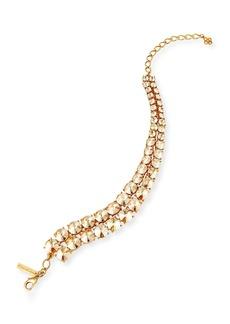 Oscar de la Renta Tendril Double-Row Crystal Choker Necklace