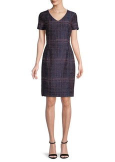 Oscar de la Renta Textured Silk-Blend Dress
