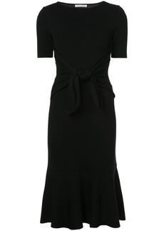 Oscar de la Renta tie-detailed fluted midi dress