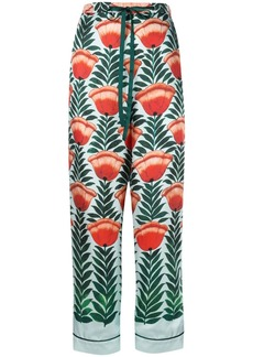 Oscar de la Renta tulip printed trousers