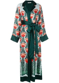 Oscar de la Renta tulip printed wrap dress