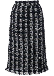 Oscar de la Renta tweed pencil skirt