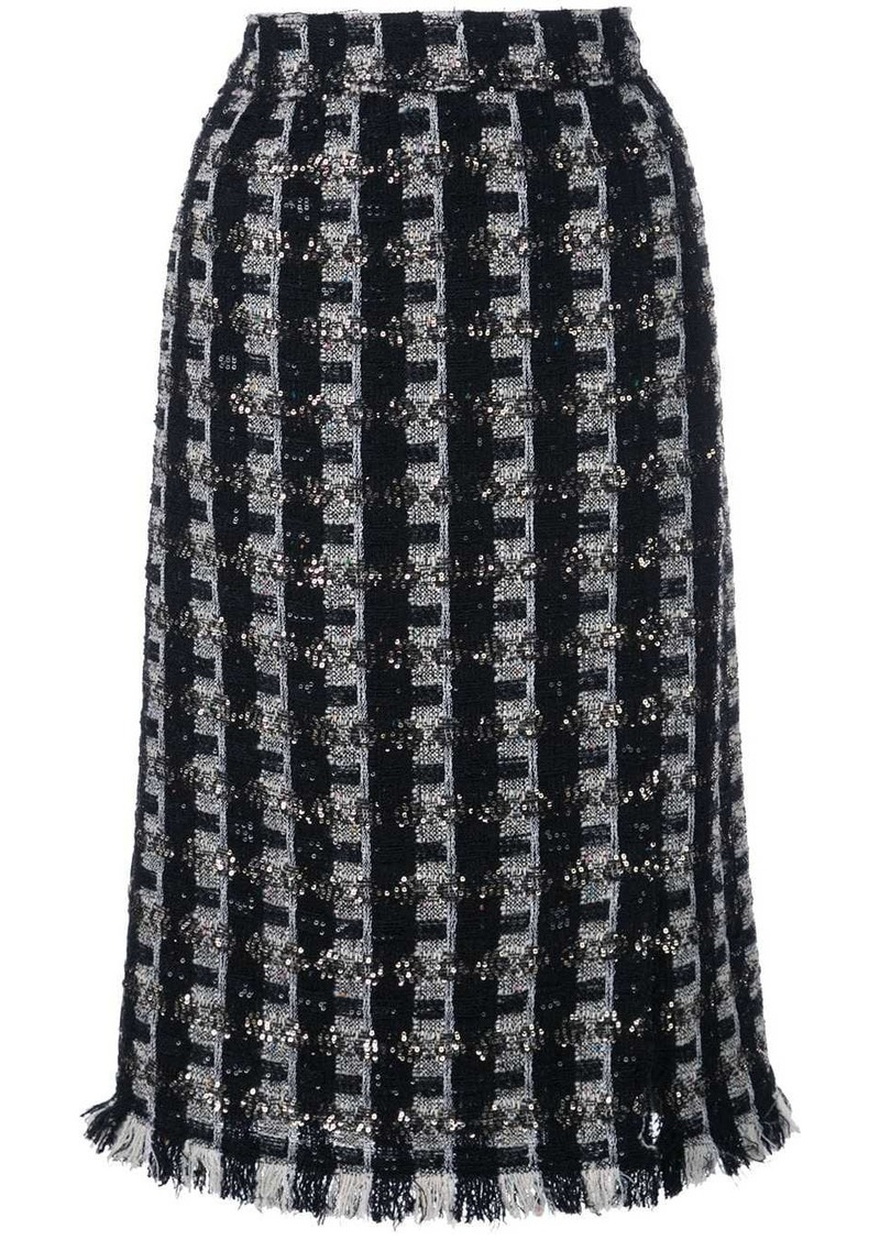 Oscar de la Renta tweed pencil skirt