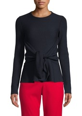 Oscar de la Renta Waist Tie Pullover Sweater