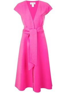 Oscar de la Renta waist-tied midi dress