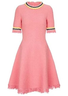Oscar de la Renta Wool and cotton-blend tweed minidress