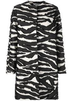 Oscar de la Renta zebra-print coat