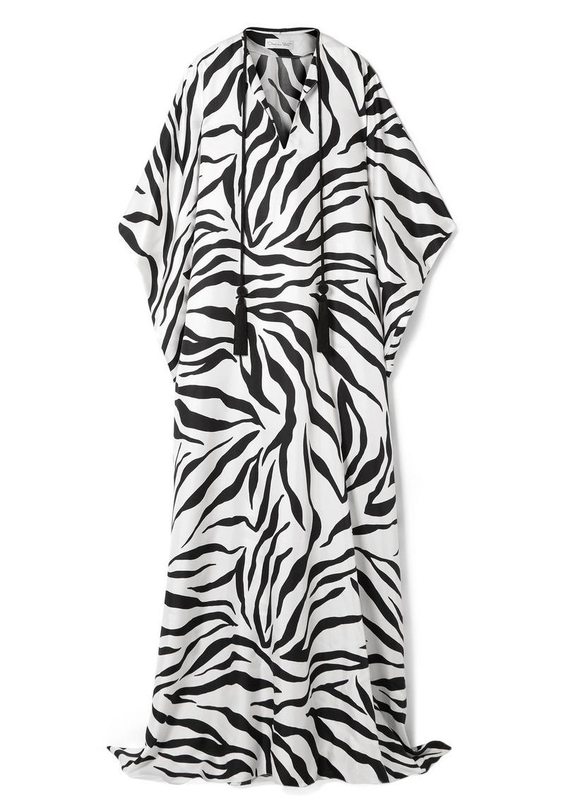 Oscar de la Renta Zebra-print Silk Kaftan