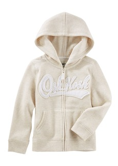 OshKosh Osh Kosh Girls' Kids Full Zip Logo Hoodie