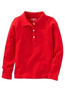 OshKosh Osh Kosh Girls' Kids Long Sleeve Uniform Polo