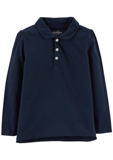 OshKosh Osh Kosh Girls' Long Sleeve Uniform Polo Shirt  4-5