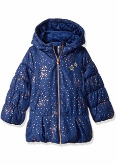 OshKosh Osh Kosh Girls' Toddler Hooded Peplum Jacket Coat