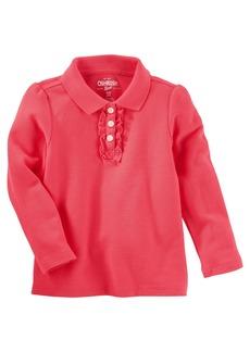OshKosh Osh Kosh Girls' Toddler Long Sleeve Polo Shirt
