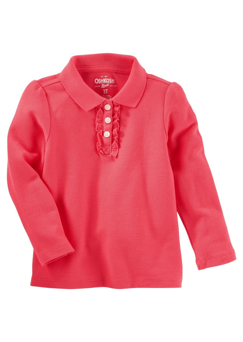 df016aeb8 OshKosh Osh Kosh Girls  Toddler Long Sleeve Polo Shirt