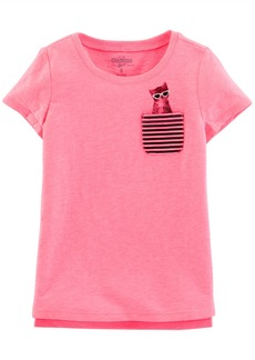 OshKosh Osh Kosh Girls' Toddler Pocket Tee