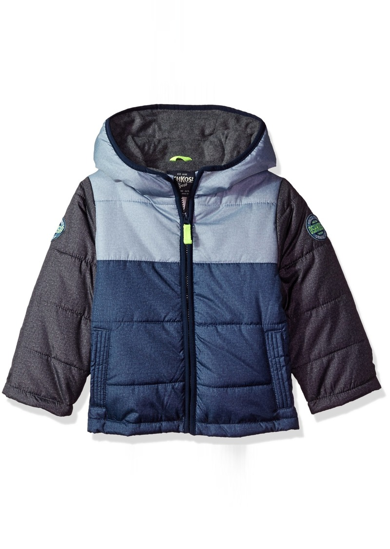 26222f0fa OshKosh Osh Kosh Little Boys  Classic Heavyweight Colorblock Puffer ...