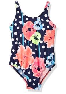 OshKosh Osh Kosh Little Girls' Dot Floral One Piece Swimsuit