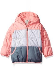 OshKosh Osh Kosh Little Girls' Perfect Colorblocked Heavyweight Jacket Coat