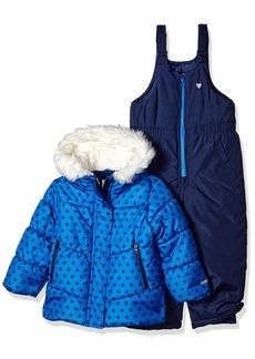 OshKosh Osh Kosh Little Girls' Ski Jacket and Snowbib Snowsuit Outfit Set