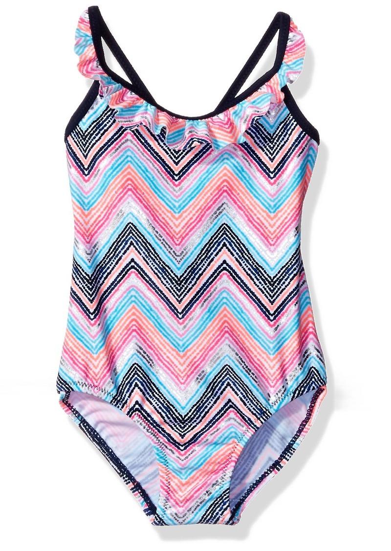 852627d738cae OshKosh Osh Kosh Little Girls  Toddler Zigzag Stripe One Piece Swimsuit