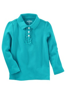 OshKosh Osh Kosh Girls' Long Sleeve Uniform Polo Shirt