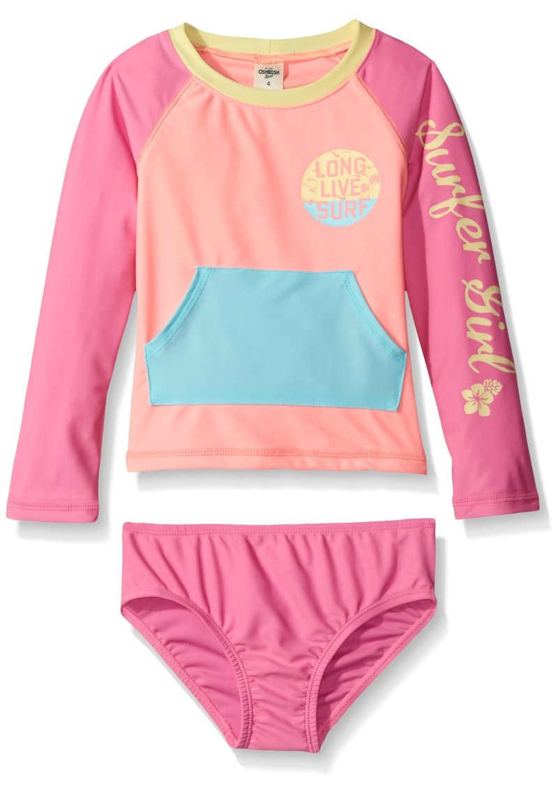 Oshkosh osh kosh toddler girls 39 surfer long sleeve rash for Baby rash guard shirt