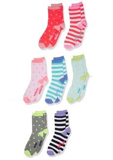 OshKosh B'Gosh Big Girls' Oshkosh Crew Socks Days of the Week (7pack)  8 and up