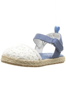 OshKosh B'Gosh Georgette Girl's Closed Toe Espadrille Sandal Mary Jane Flat