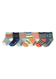 OshKosh B'Gosh Boys' Little Crew Socks (7 Pack) Days of The Week/Sports