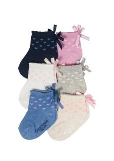 OshKosh B'Gosh Little Girls' Quarter Crew Socks (6 Pack)