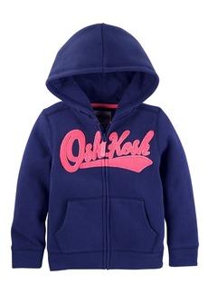 OshKosh Osh Kosh Girls' Toddler Full Zip Logo Hoodie