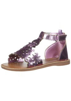 OshKosh B'Gosh Winnie Girl's Metallic Flower T-Strap Sandal
