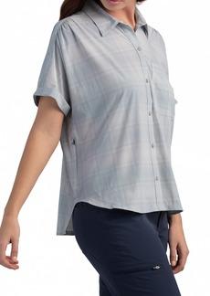 Outdoor Research Women's Astroman Check Short Sleeve Sun Shirt