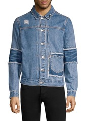 Ovadia & Sons Patchwork Distressed Denim Jacket