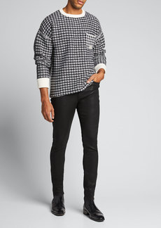 Ovadia & Sons Men's Houndstooth Oversized Wool Sweater
