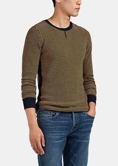 Ovadia & Sons Men's Striped Waffle-Knit Wool Sweater