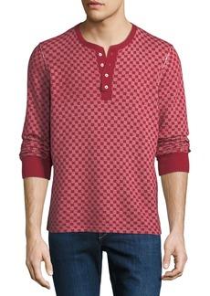 Ovadia & Sons Men's Zack Checkerboard Henley Shirt