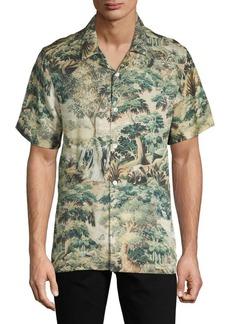 Ovadia & Sons Wizard Tapestry-Print Beach Shirt