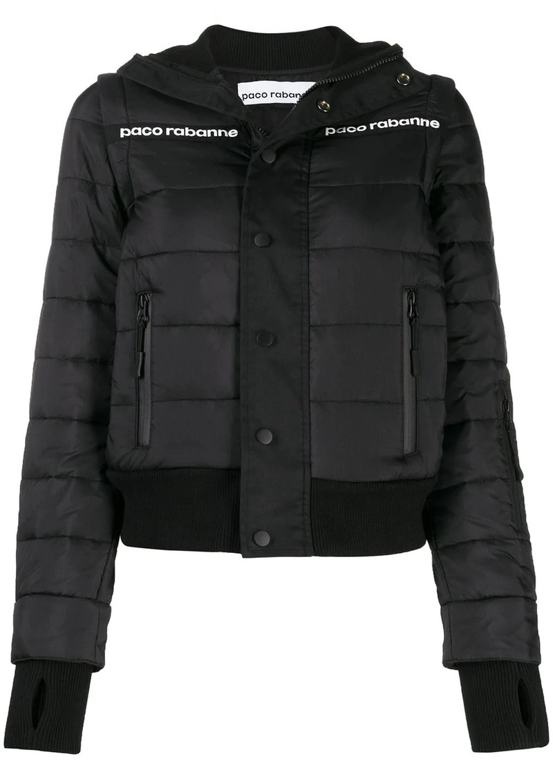Paco Rabanne cropped puffer jacket